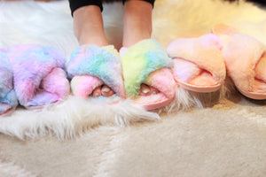 Ultra Fuzzy Tie Dye House Shoes