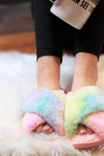 Load image into Gallery viewer, Ultra Fuzzy Tie Dye House Shoes