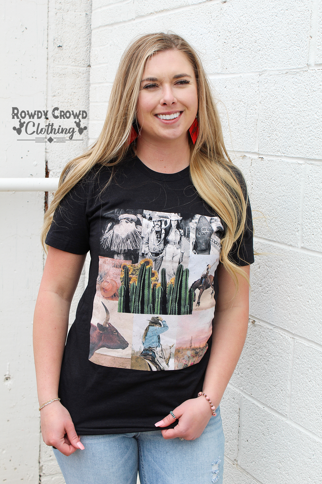 Cowboy Collage Tee
