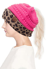 Load image into Gallery viewer, CC Beanie Ponytail Messybun - Leopard - MB-45