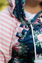 Load image into Gallery viewer, Floral and Stripes Hoodie Now Available in Kids!
