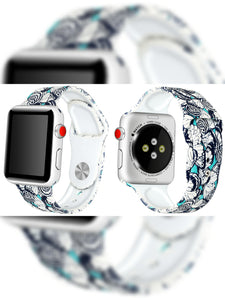 Silicone Rubber Watchbands - For Apple iWatch Series 1/2/3