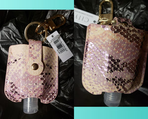 Fashion Hand Sanitizer Holders with Keyring and Clip