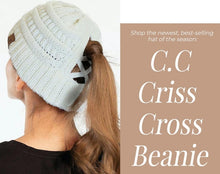 Load image into Gallery viewer, C.C. Criss Cross Ponytail Beanies CCB-1