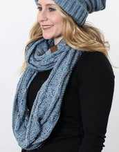 Load image into Gallery viewer, C.C SF-33 Cable Knit Confetti Infinity Scarf