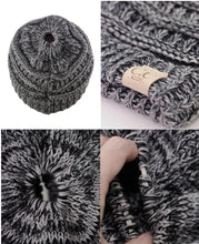 Load image into Gallery viewer, C.C MB-816KIDS Kids Multicolor Knit Ponytail Beanie