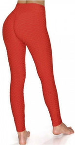 Rose Red Honeycomb Tik Tok Leggings