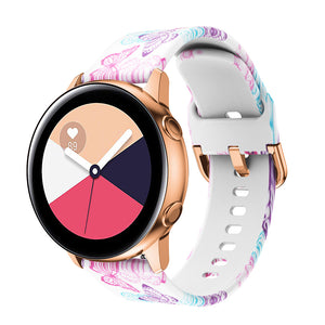 RUBBER PATTERNED STRAP FOR SAMSUNG GALAXY WATCH ACTIVE2 / GEAR SPORT / GEAR S2