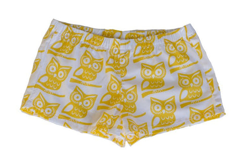 Boxer Shorts - Yellow Owl