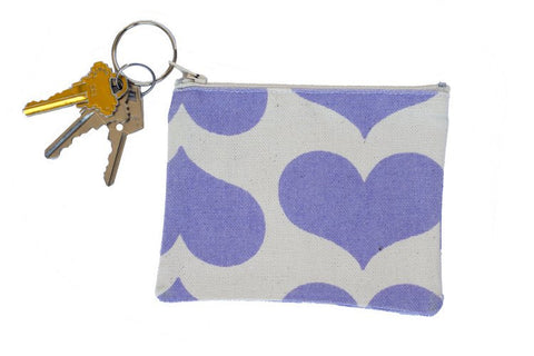 Coin Purse/Keychain - Lavender Heart