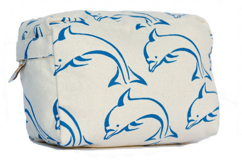 Cosmetic Bag - Blue Dolphin