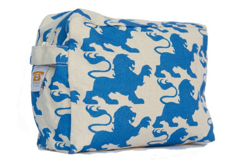 Cosmetic Bag - Blue Lion