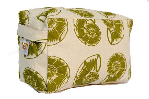 Cosmetic Bag - Green Nautilus