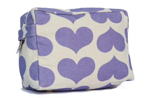 Cosmetic Bag - Lavender Heart