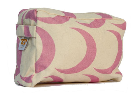 Cosmetic Bag - Pink Cresent Moon