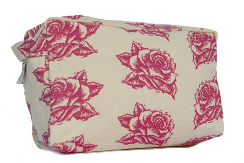 Cosmetic Bag - Pink Rose