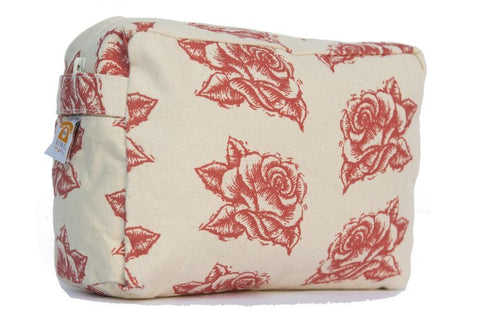 Cosmetic Bag - Red Rose