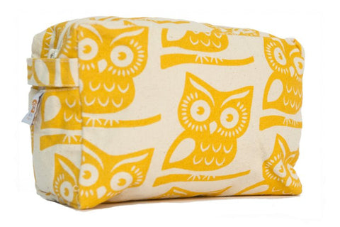 Cosmetic Bag - Yellow Owl