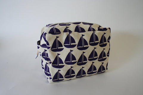 Cosmetic Bag - Purple Sailboat
