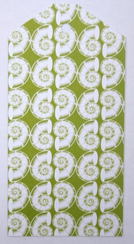 Gift Tags - Green Nautilus