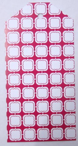Gift Tags - Pink Quatrefoil