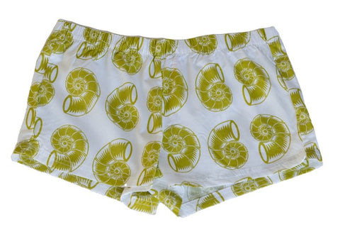 Boxer Shorts - Green Nautilus Shell