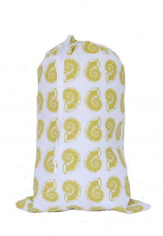 Laundry Bag - Green Nautilus Shell