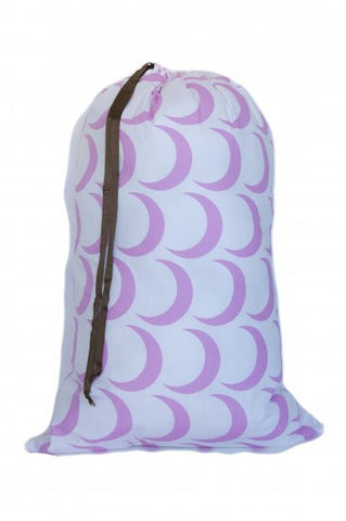 Laundry Bag - Pink Crescent Moon
