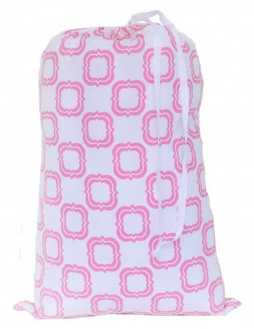 Laundry Bag - Pink Quatrefoil