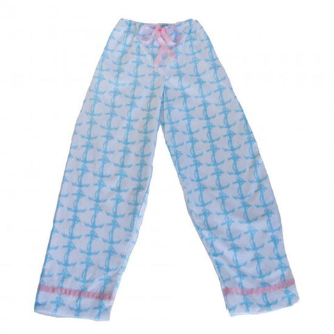 Pajama Pants - Blue Anchor