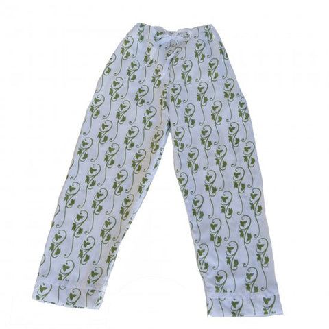 Pajama Pants - Green Ivy