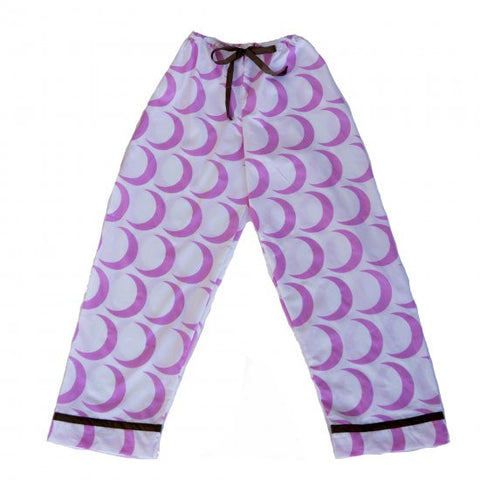 Pajama Pants - Pink Crescent Moon