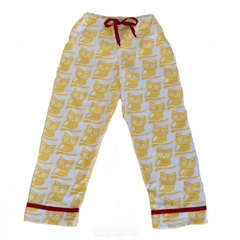 Pajama Pants - Yellow Owl