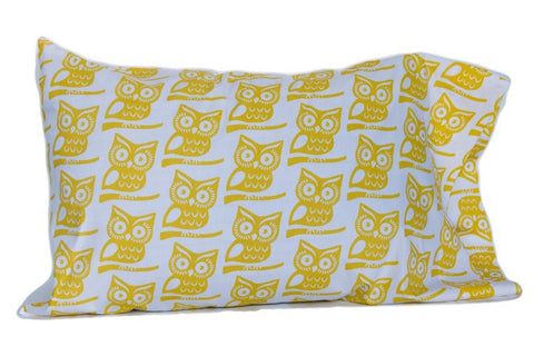 Pillow Case - Yellow Owl
