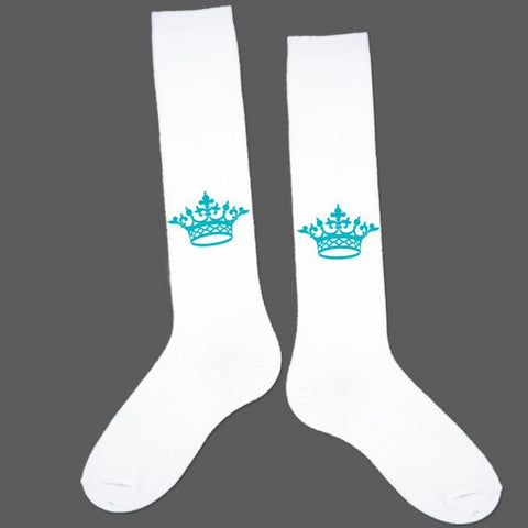 Socks - Turquoise Crown
