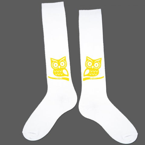 Socks - Yellow Owl