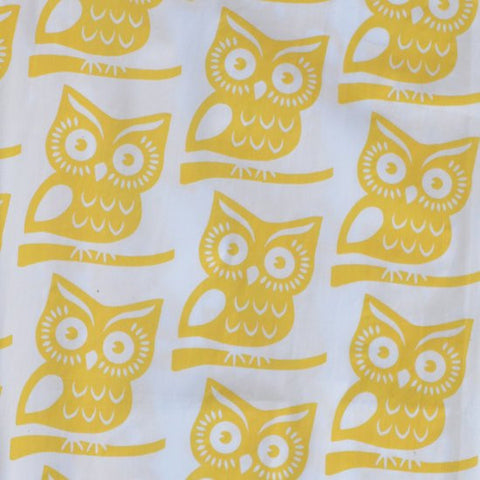 Fabric - Yellow Owl