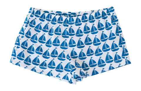 Boxer Shorts - Navy Sailboat