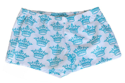 Boxer Shorts - Turquoise Crown