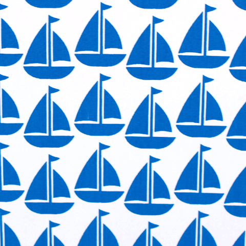 Fabric - Navy Sailboat