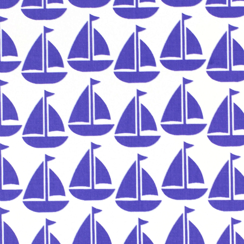 Fabric - Purple Sailboat