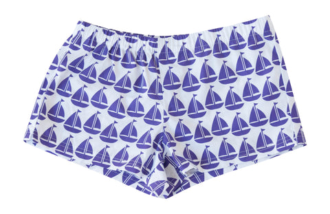 Boxer Shorts - Purple Sailboat