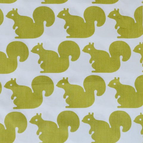 Fabric - Green Squirrel