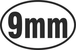 9mm Oval Vinyl Decal