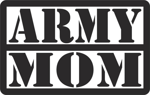 Army Mom Text Vinyl Decal