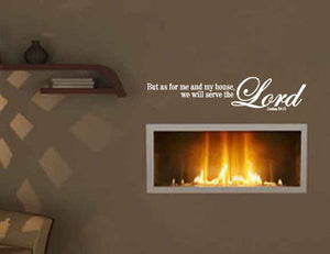 My House Will Serve The Lord Vinyl Wall Decal STicker Label