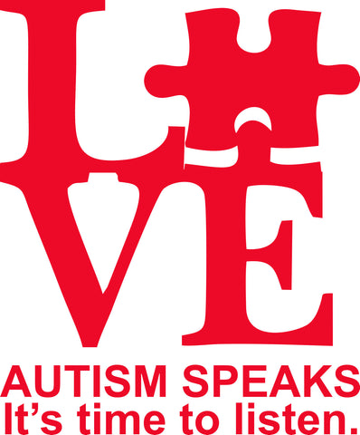 Autism Love Vinyl Decal