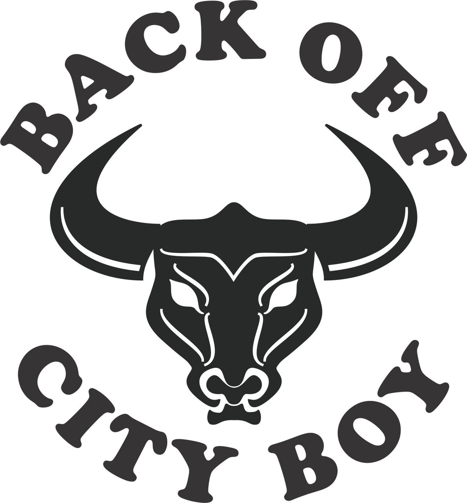 Back Off City Boy Vinyl Decal
