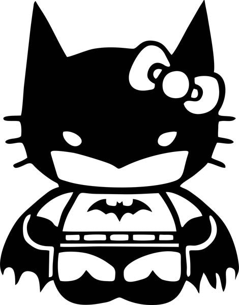 Bat Girl Kitty Vinyl Decal
