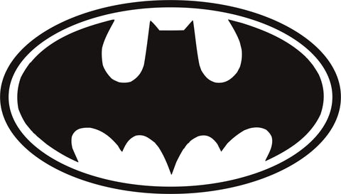 Batman Logo Oval Vinyl Decal